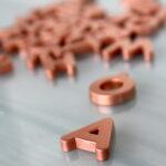 DIY metallic fridge magnets