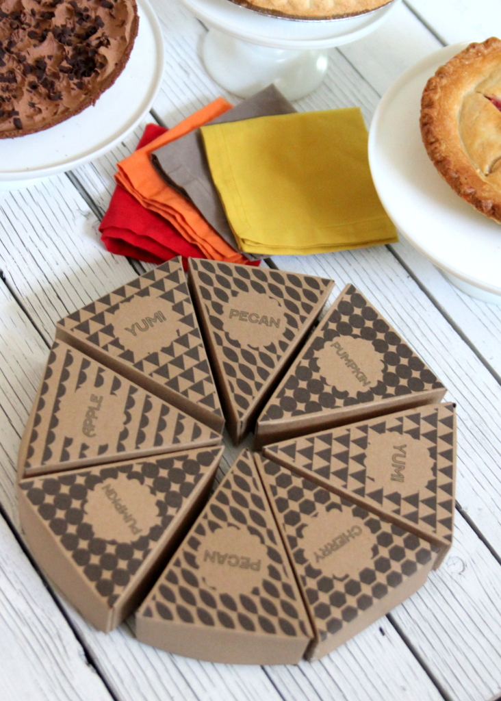 free printable pie boxes- thanksgiving favors