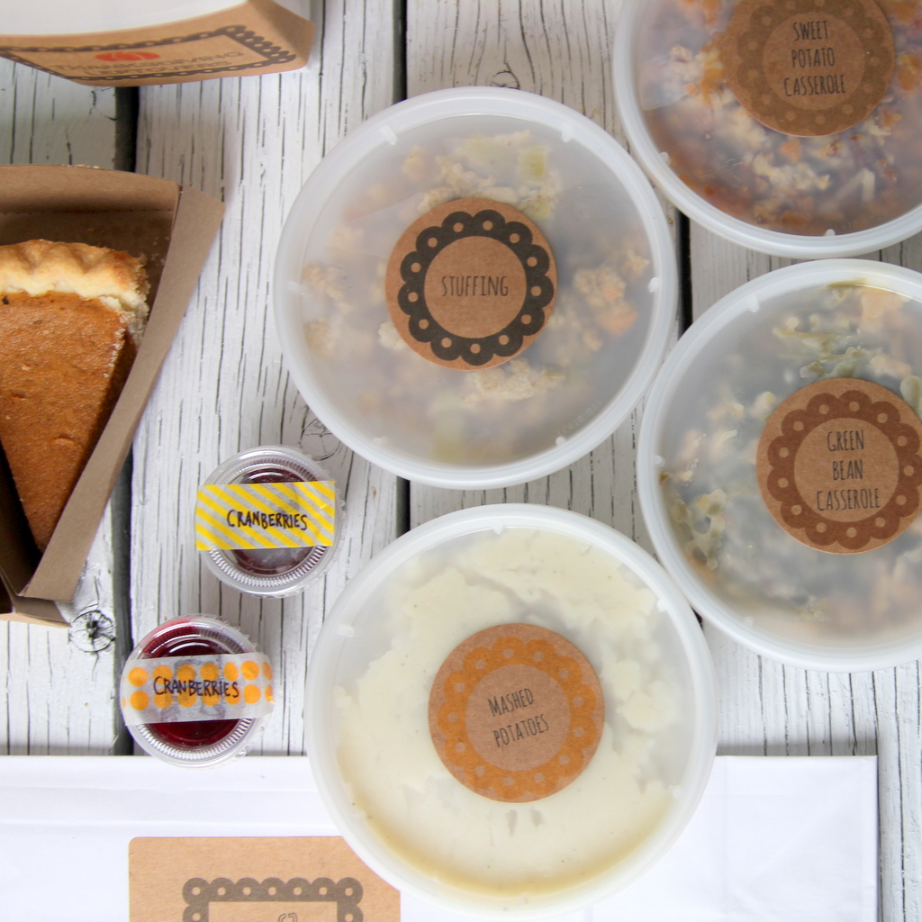 thanksgiving leftover station- free printable labels