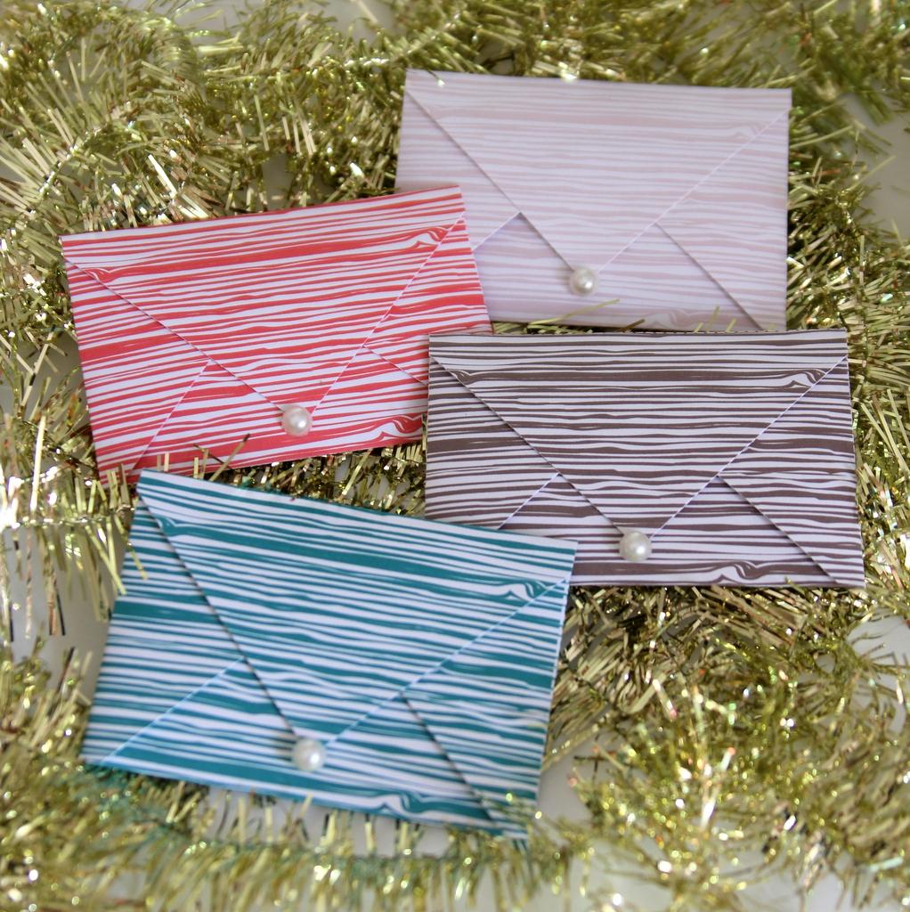 free printable holiday gift card envelopes