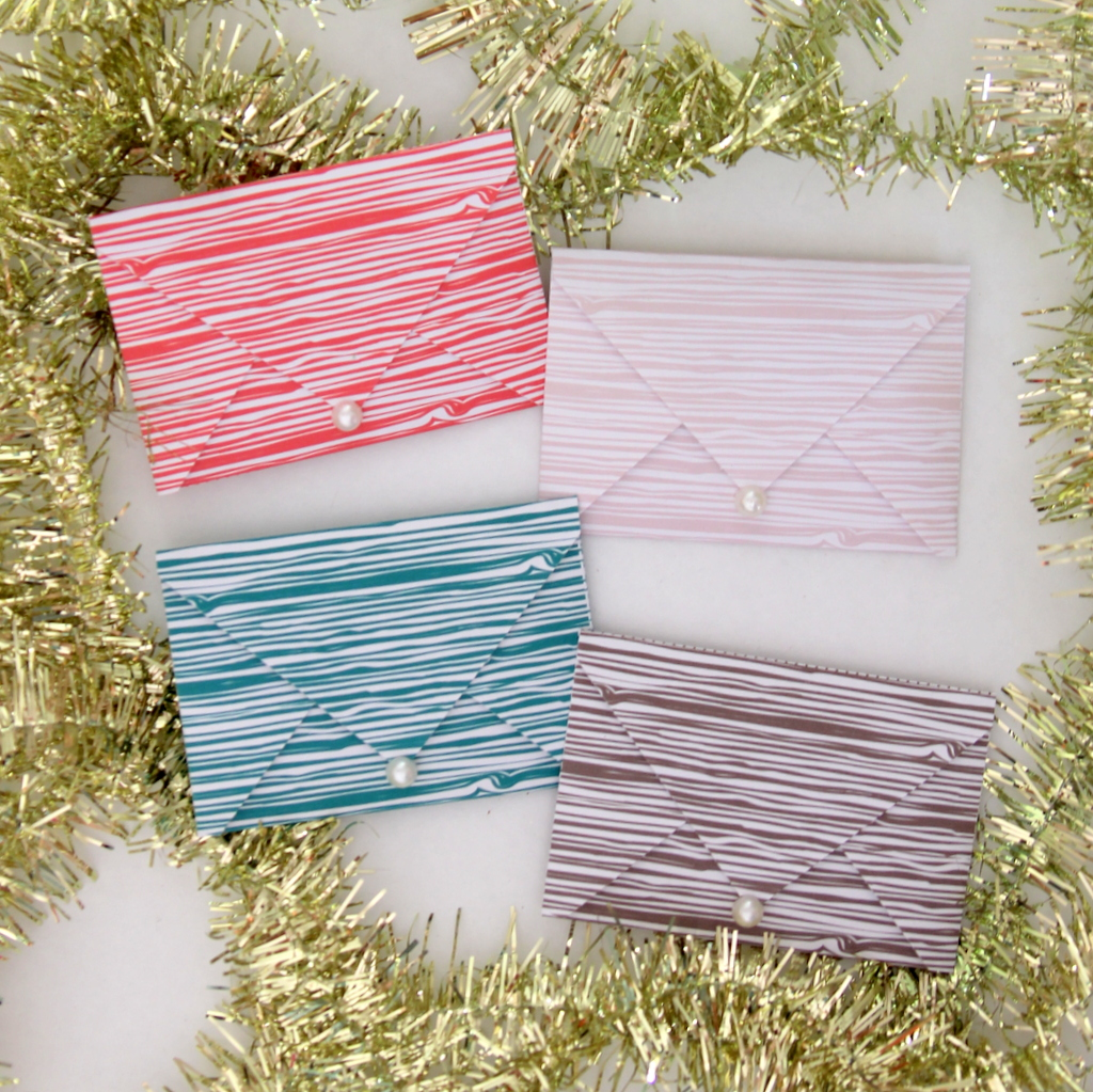 free printable faux bois gift card covers