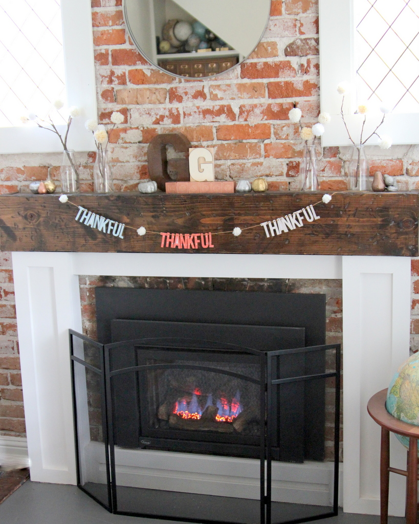 thanksgiving mantel decor ideas
