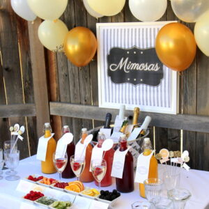 mimosa bar drink station