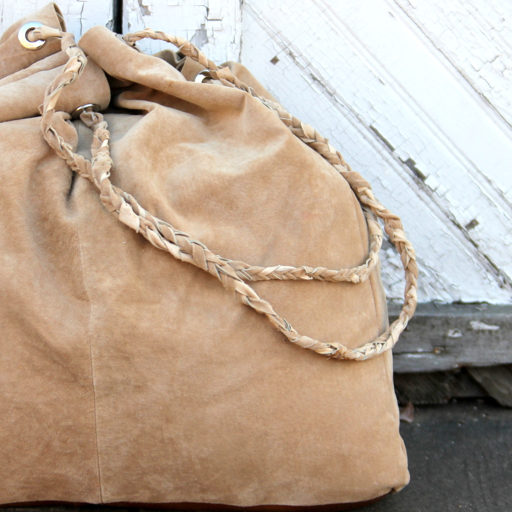 refashioned slouchy leather tote
