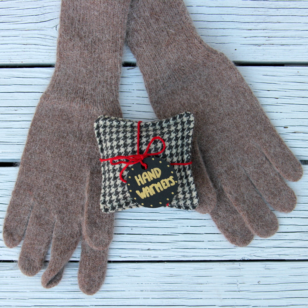 DIY hand warmers- a simple sewing project from Katie Lewis' new Simple Sewing book