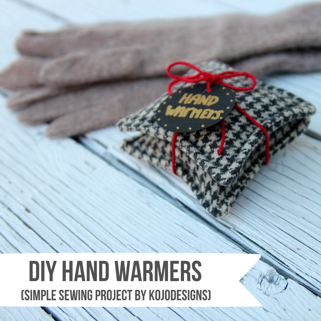 DIY hand warmers simple sewing project