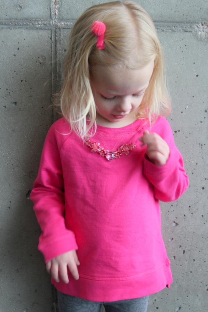 cozy sparkle- j crew inspired necklace sweatshirt
