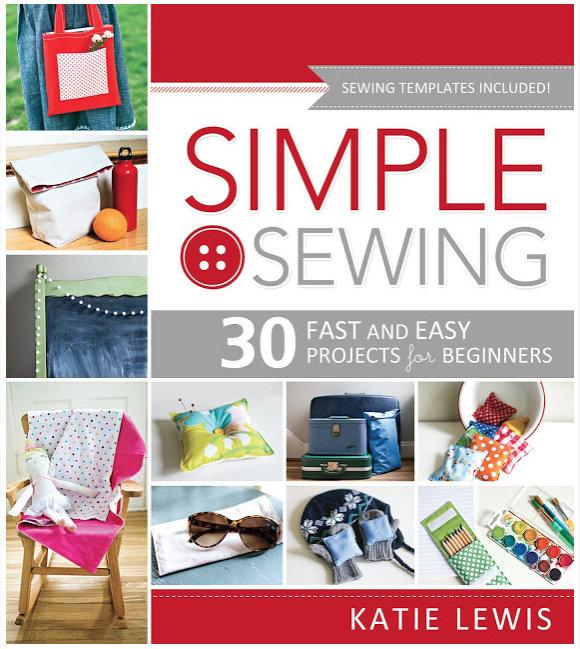 simple sewing book by katie lewis