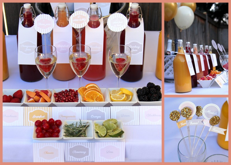 ingredients for a merry mimosa bar