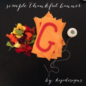 simple DIY thankful banner