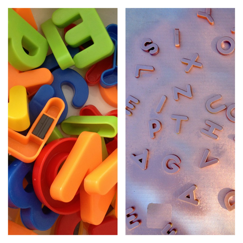 how to make metallic alphabet magnets