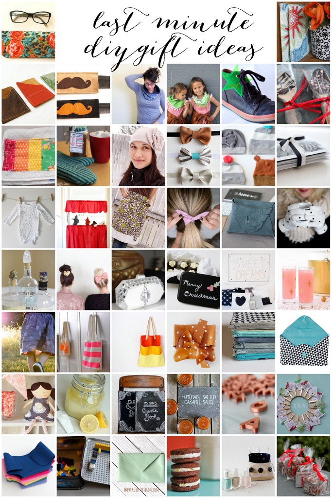 44 last minute DIY gift ideas (most can be made in 45 minutes or less with on hand materials)