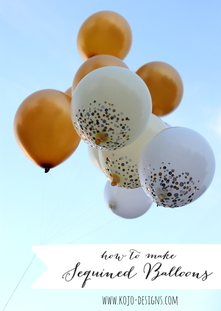how to make sequined balloons