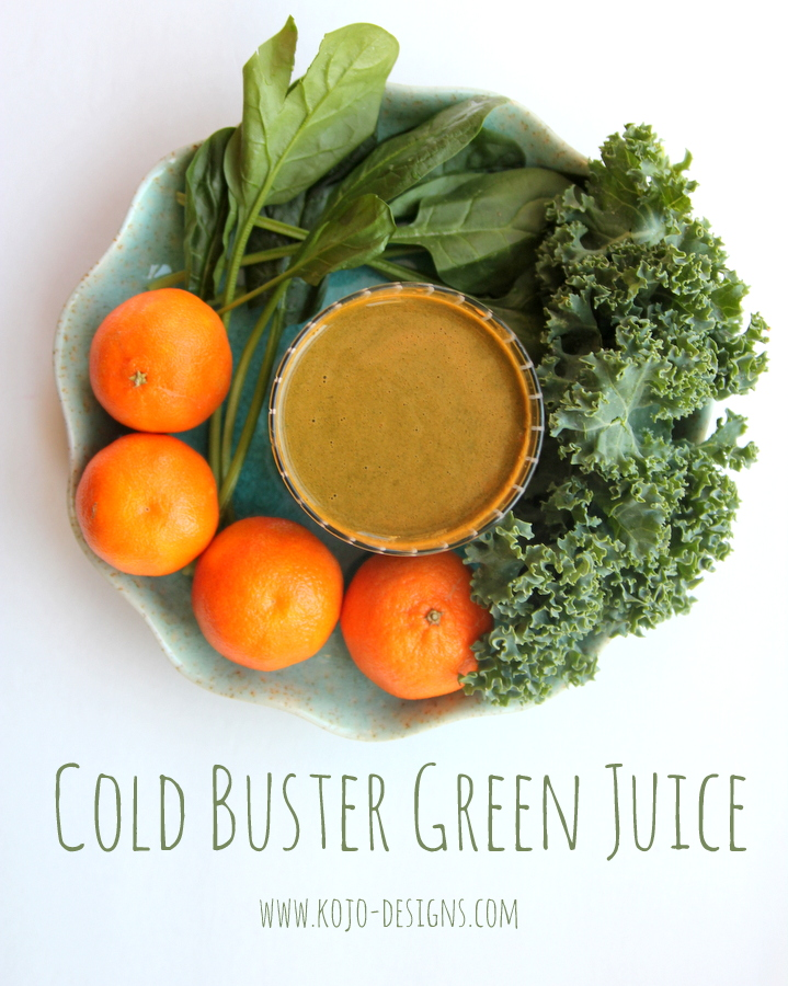 cold buster green juice- vitamin c boost