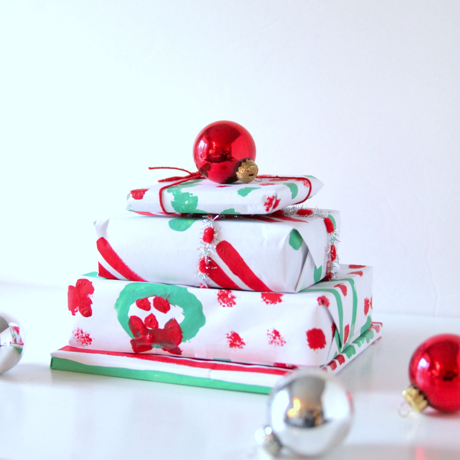 handmade painted wrapping paper