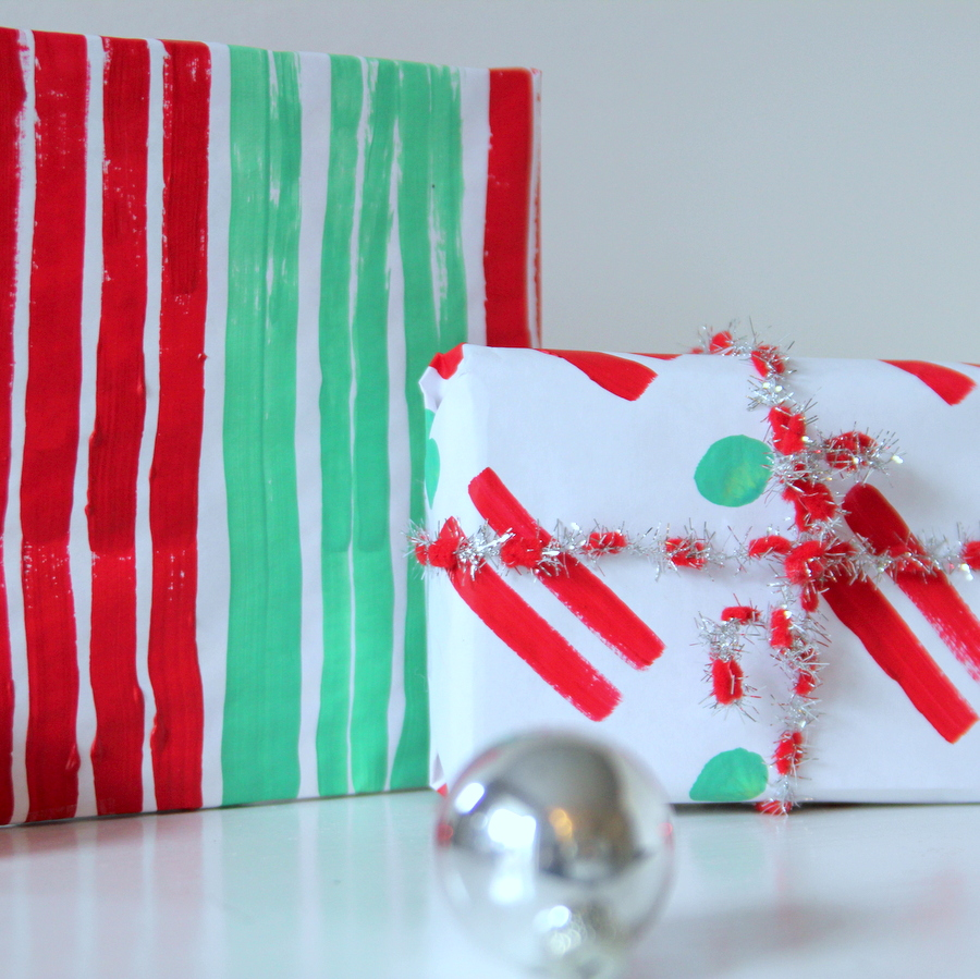 handmade painted gift wrap