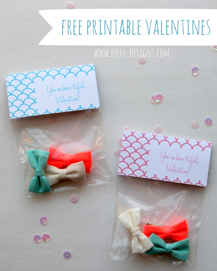 free printable valentine bow labels