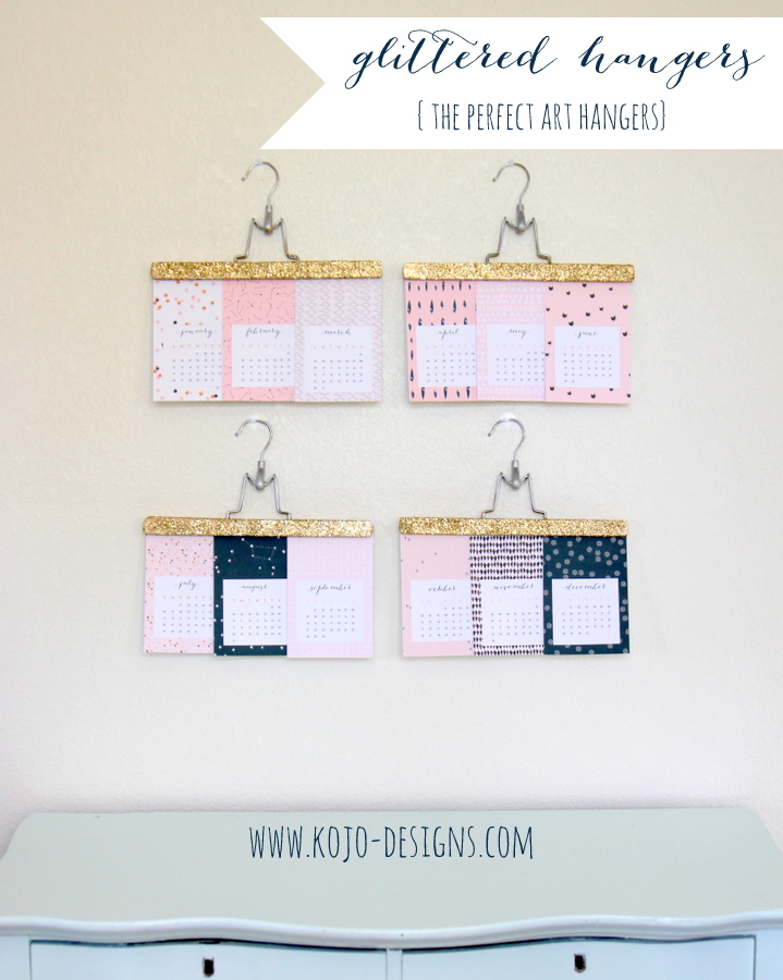 how to make glitter covered hangers