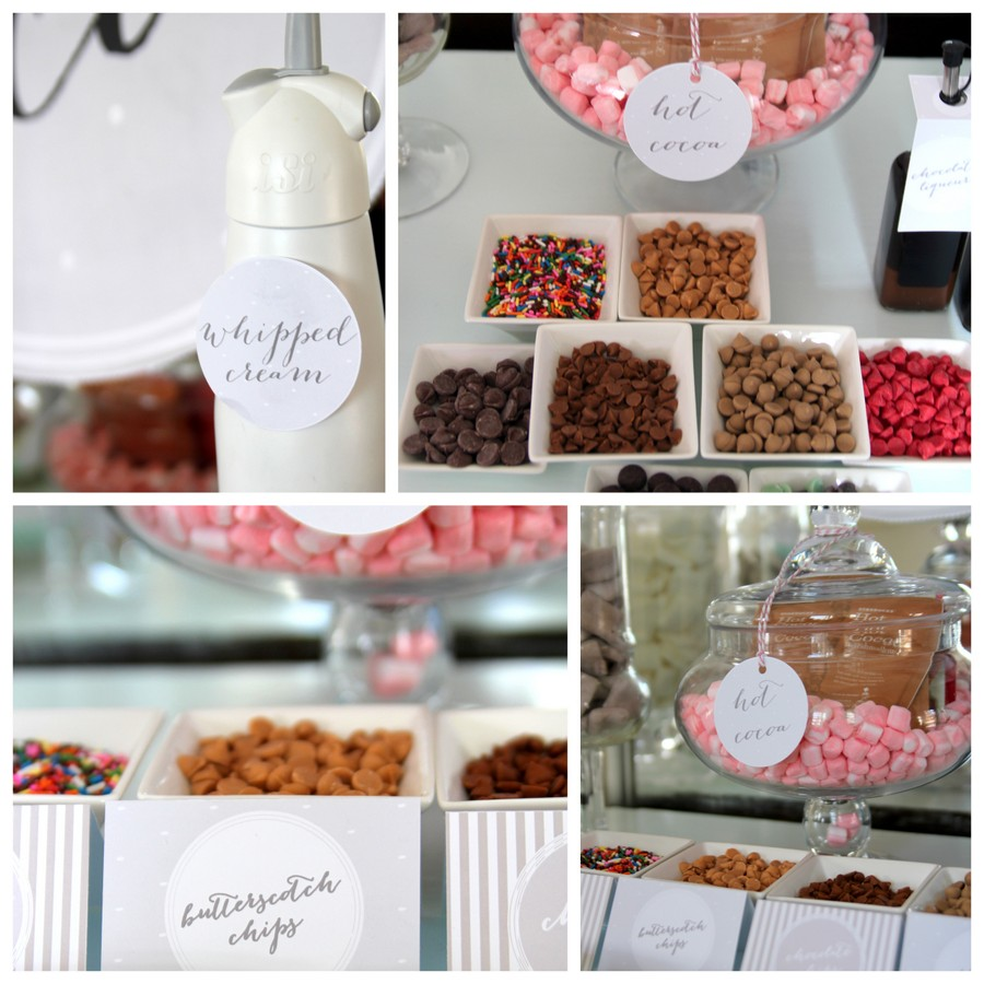 hot chocolate bar mix-in ideas