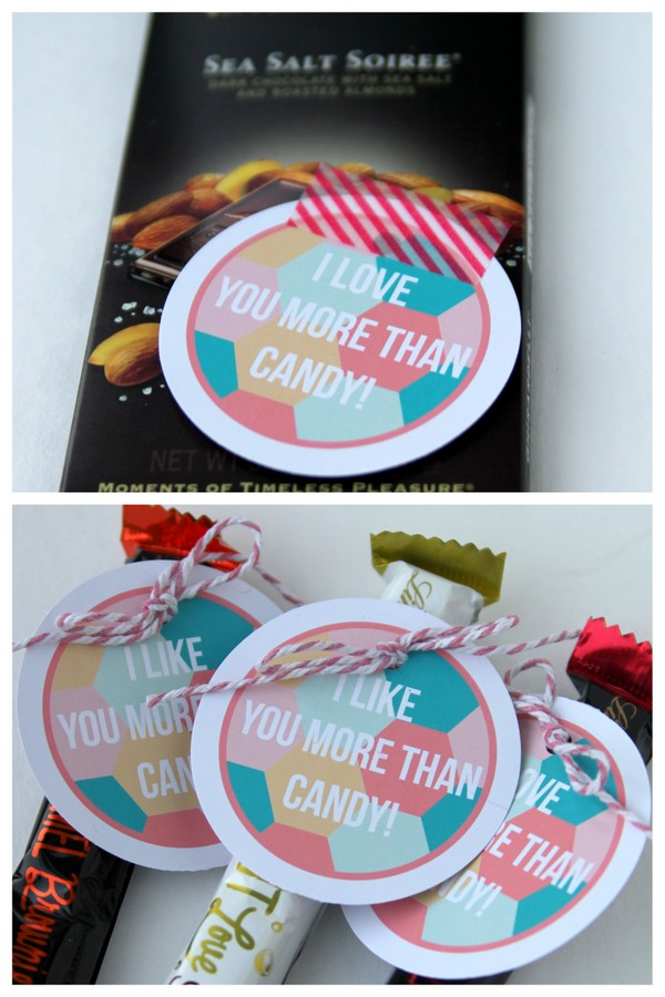 free valentines printable candy label