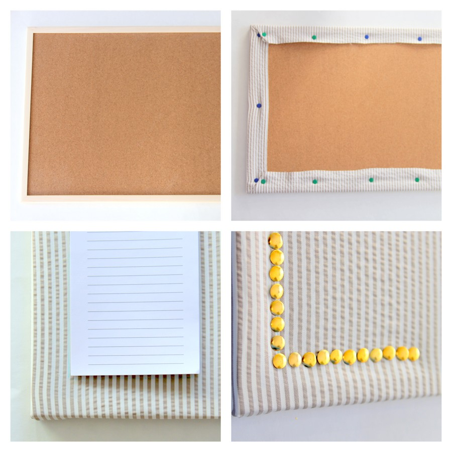 how to make covered bulletin boards