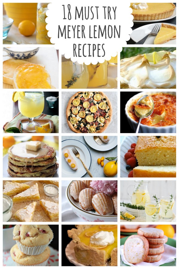 18 must try meyer lemon recipes