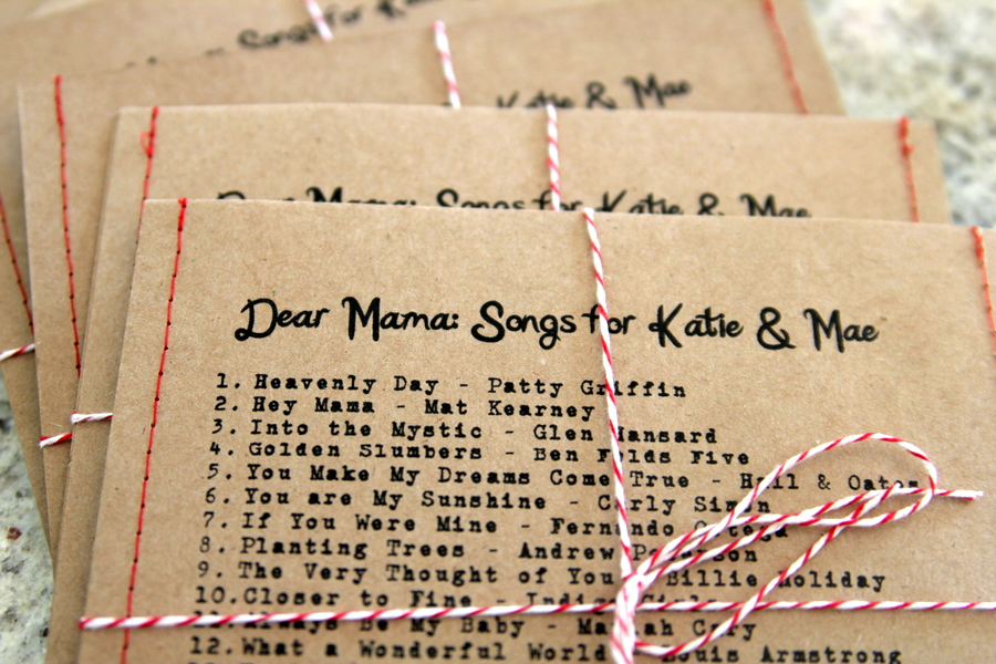 Baby Shower Favor Idea  Mixed Cdu0027s (the Playlist Was All Contributions From  Shower Guests