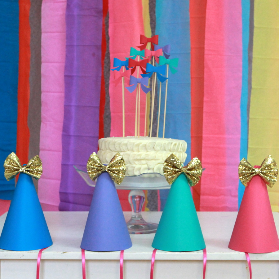 bow party hats