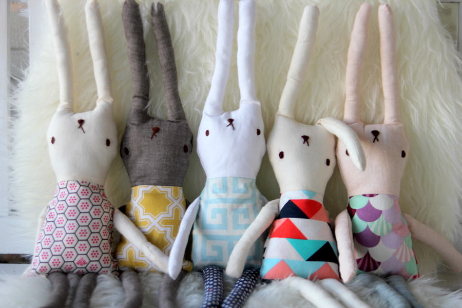 DIY Bunny Rabbit Softies - Kojo Designs