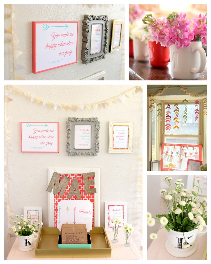arrow and bows baby shower decor ideas