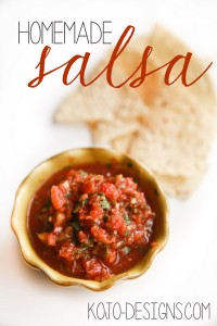 homemade salsa at kojo designs