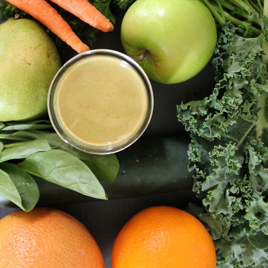 juicing combination ideas- green juice plus grapefruit, orange and carrots