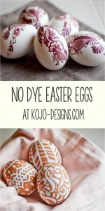 No dye easter eggs at kojo-designs