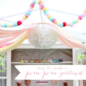 how to make a pom pom garland