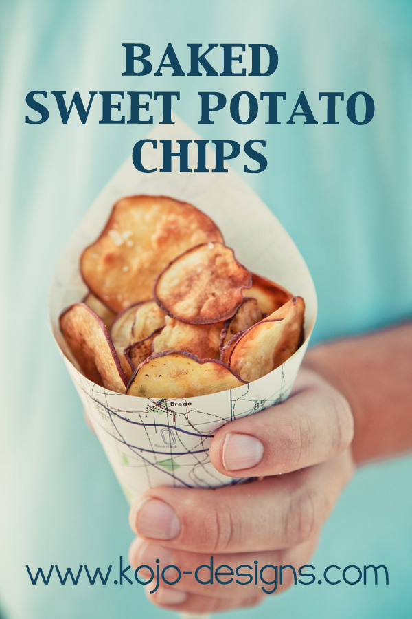 Baked Sweet Potato Chips at kojo-designs