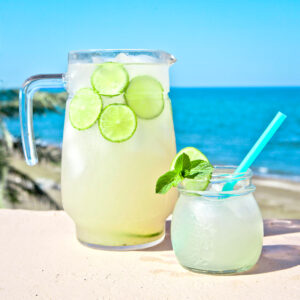 homemade mint limeade