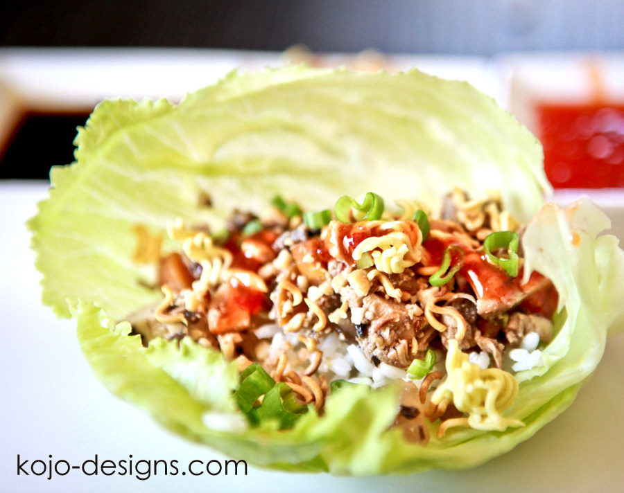 chicken lettuce wraps at kojo-designs