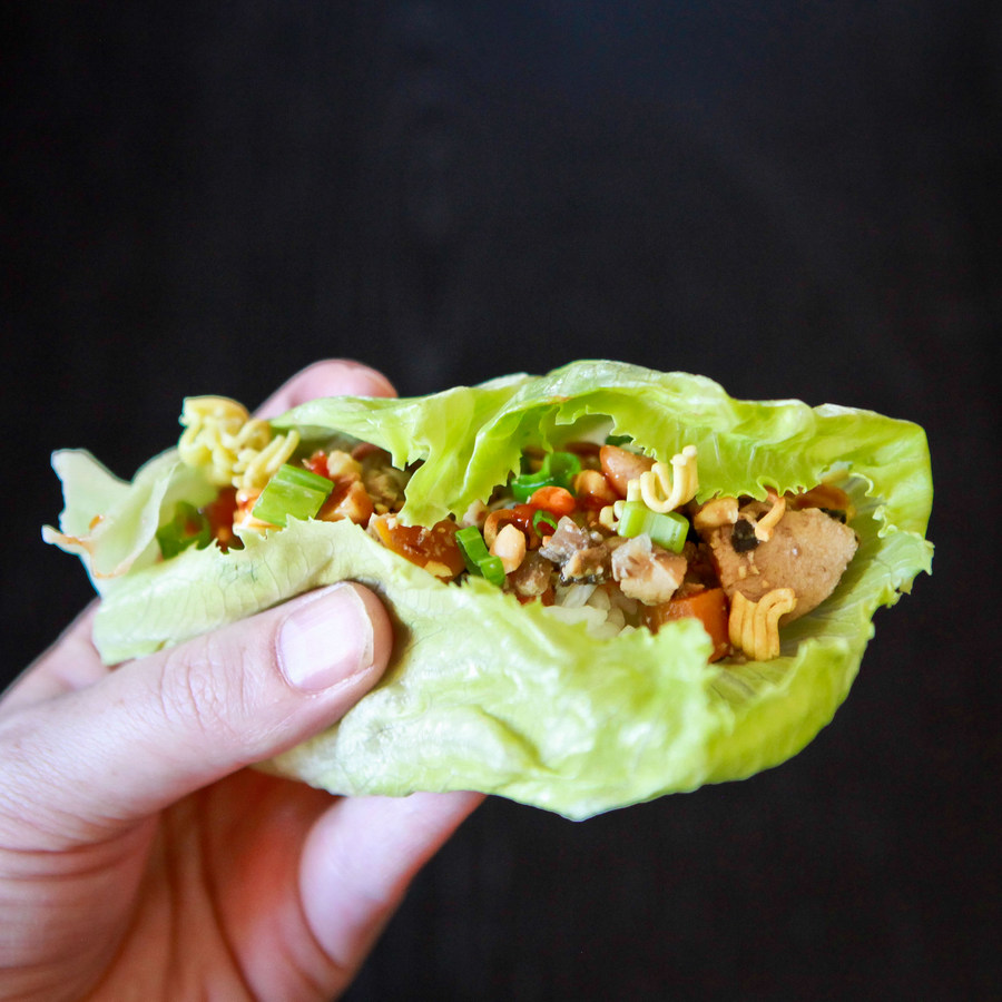 slow cooker chicken lettuce wraps | kojo-designs