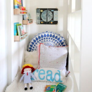 the kids' reading nook- a little tour