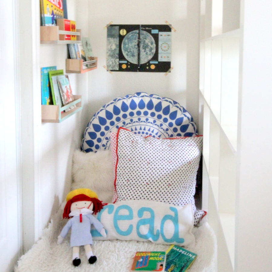 cozy kid's reading nook