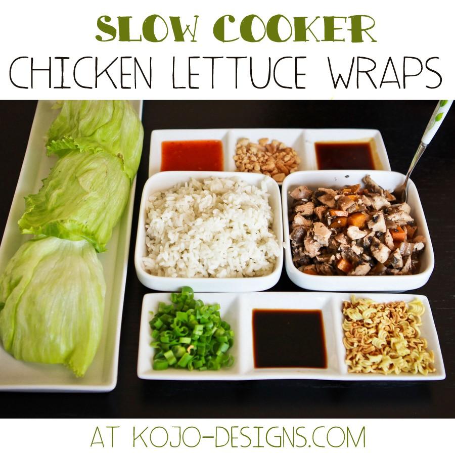crockpot chicken lettuce wraps at kojo-designs