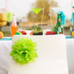 bright and modern summer fiesta