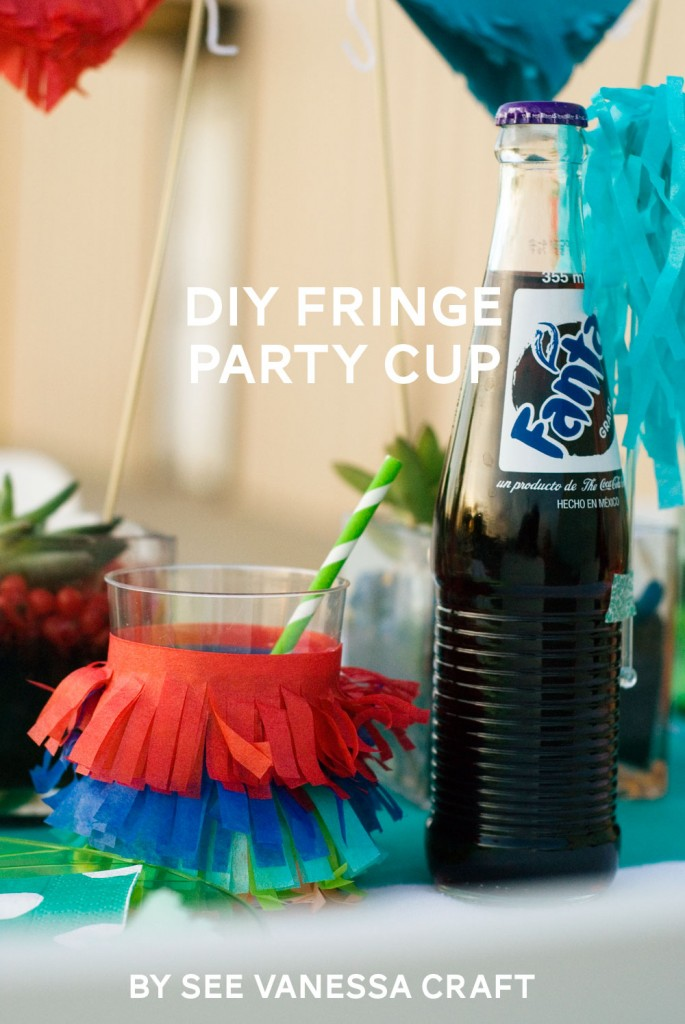 DIY fringe party cup