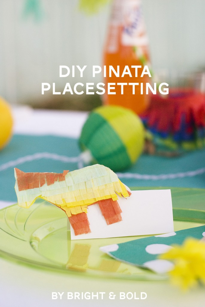 DIY piñata place setting
