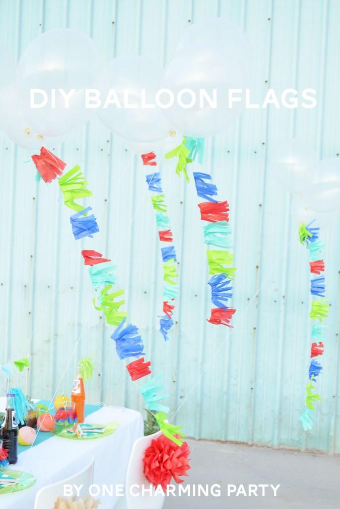 DIY balloon flags