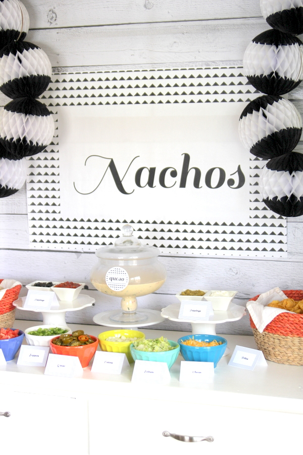 nacho bar food party station