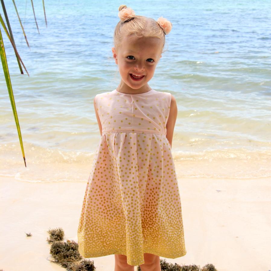 falling glitter little girl's dress tutorial