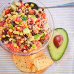 southwestern salad with black beans and avocado