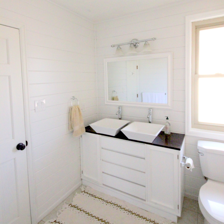 bathroom makeover for less than $300