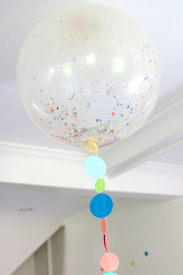 confetti filled giant balloons